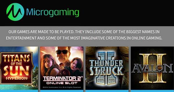 Microgaming est le développeur de jeux de casino le plus actif