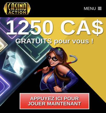 Casino Action est 100% mobile sur iPhone iOS et Android. Les jeux sur mobile y sont fluides et surtout rentables.