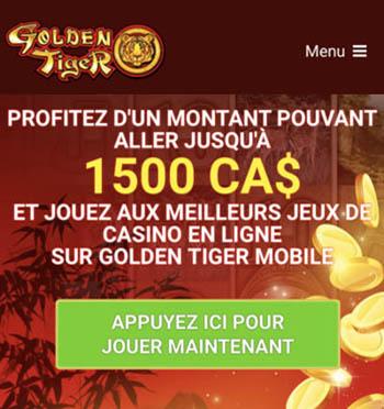 Ce casino, Golden Tiger, est celui qui offre les meilleurs et les plus gros bonus gratuit de notre guide.