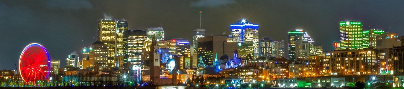 La belle ville de Montréal au Québec