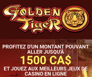 Golden Tiger et son gros bonus de bienvenue