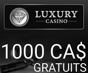Luxury Casino - bonus de bienvenue pour le blackjack