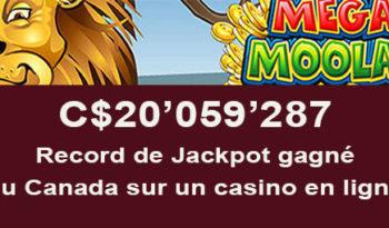 Plus gros jackpot du Canada gagné dans un casino en ligne